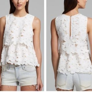 Dolce Vita for Anthro white floral lace top
